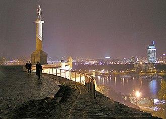 Ušće Tower - Image: Novi BG Nov 30 2005