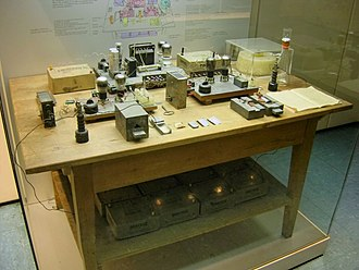 Norwegian heavy water sabotage - The experimental apparatus with which the chemists Otto Hahn and Fritz Strassmann discovered nuclear fission of uranium in 1938