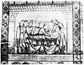 Nurse bandaging a patient's abdomen, 13th century. Wellcome M0010148.jpg