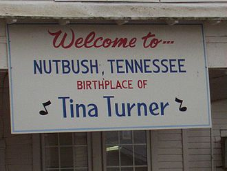 Tennessee State Route 180 - Nutbush, childhood home of singer Tina Turner (2004)