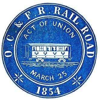 Old Colony Railroad - Image: OCFRR 1854