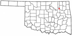 Location in Oklahoma