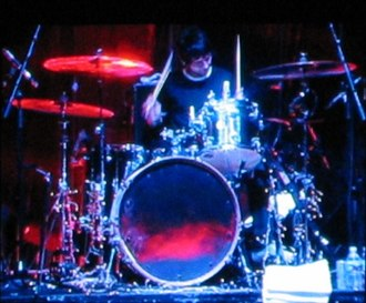 Zak Starkey - Starkey on stage with Oasis in 2005.
