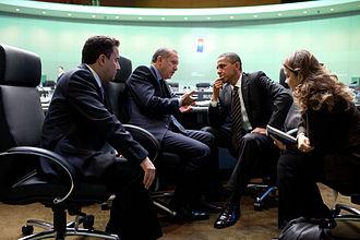 2010 G20 Seoul summit - American President Obama and Turkish Prime Minister Erdoğan in conversation.