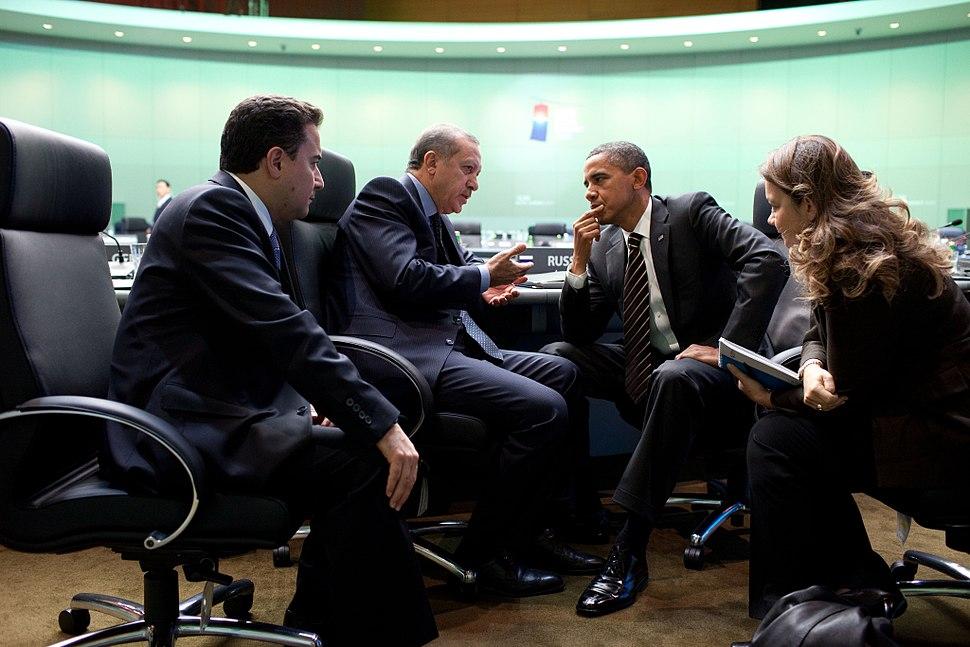 Obama and Erdoğan speaking