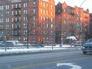 Ocean Parkway (Brooklyn) - Apartment buildings at Ocean Parkway and 18th Ave.