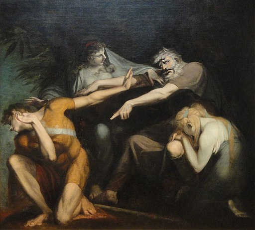 Oedipus Cursing His Son, Polynices, by Henry Fuseli, 1786, oil on canvas - National Gallery of Art, Washington - DSC00044