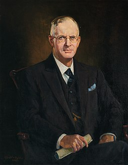 Parliament House portrait of Curtin by Anthony Dattilo Rubbo, 1947 Official Portrait of John Curtin by Antonio Dattilo Rubbo.jpg
