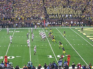 Michigan–Ohio State football rivalry - Michigan on offense against Ohio State during the 2011 game in Ann Arbor