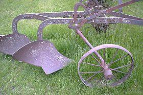 Un vecchio aratro americano (Iowa)