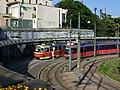 Old and new tram in Bratislava, Slovakia (6898602867).jpg