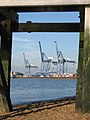 Old jetty, new cranes - geograph.org.uk - 591052.jpg