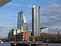 One Blackfriars, OXO Tower, Shard, South Bank Tower and 240 Blackfriars Road 01.jpg