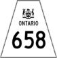 Highway 658 shield