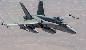 Military intervention against ISIL - A CF-18 during the operation Impact
