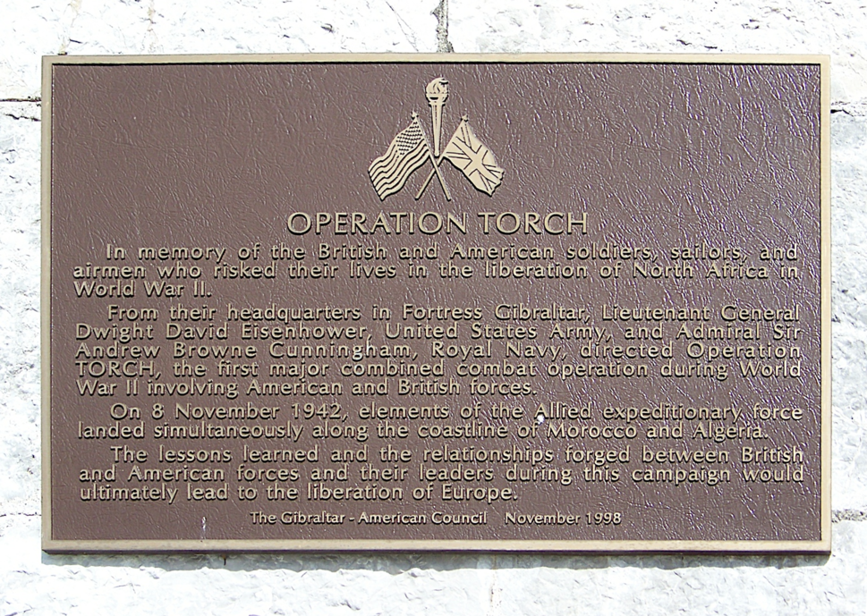 Operation Torch plaque persp