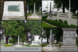 Otorohanga - War memorials in Otorohanga