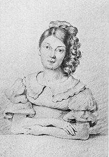 Ottilie von Goethe, Zeichnung eines unbekannten Künstlers. (Quelle: Wikimedia)