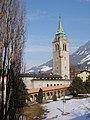 Pölzbühne mit Glockenturm und Stadtpark.JPG