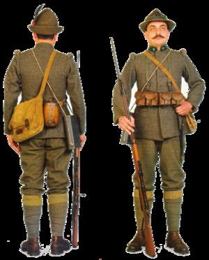 Czechoslovak Legion in Italy - Uniform of the Czechoslovak Italian Legion