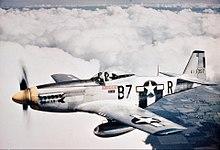 Schreibtischmodell der Mustang um 1944 Jagd Flugzeug Mustang P-51