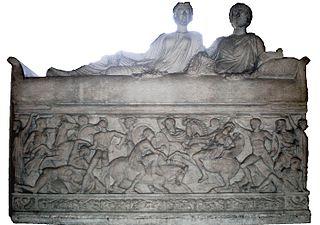 sarcophage d'un couple de défunt