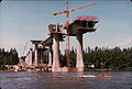 PD 0195The Glenn L. Jackson Memorial Bridge from Columbia River - Under Construction.JPG