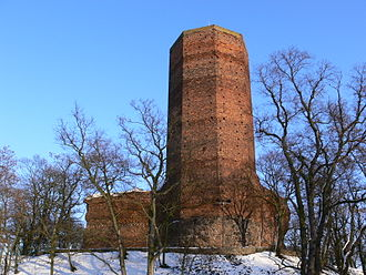 Popiel - The Mouse Tower in Kruszwica, constructed in 1350, incorrectly associated with Popiel