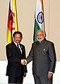 PM Modi and Brunei Sultan Hassanal Bolkiah at Nay Pyi Taw, Myanmar.jpg