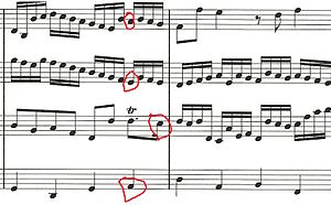 An excerpt from Pachelbel's Canon in D