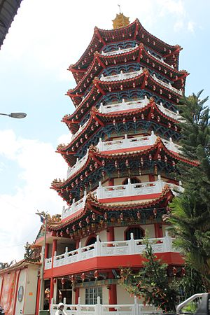 Malaysian folk religion - A pagoda of Tua Pek Kong Temple, Sibu.