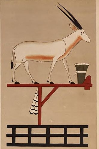 Oryx nome - The symbol of the Oryx nome, from the tomb of Khnumhotep II at Beni Hasan