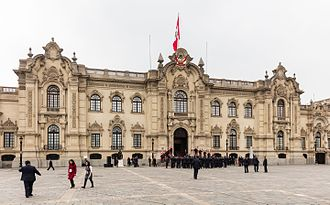 Government Palace (Peru) - View of the Peruvian Government Palace