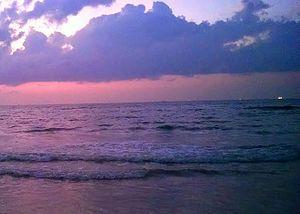 Panambur Beach - Clouds over the sea at Panambur Beach