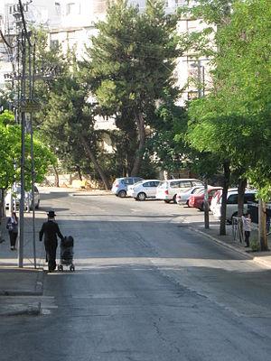 Kiryat Mattersdorf - The main thoroughfare, Panim Meirot Street.
