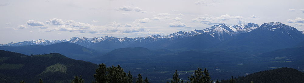 Panorama Of The Cabinet Mountains South Of Libby, Montana.