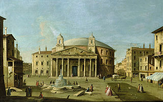 View of the Pantheon in Rome
