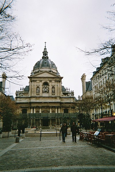 Public square of the Sorbonne, in the Latin Quarter of Paris]]