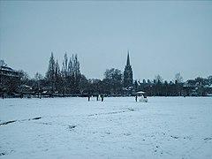 Parker's Piece, Cambridge - Snow in Feb 2009.JPG