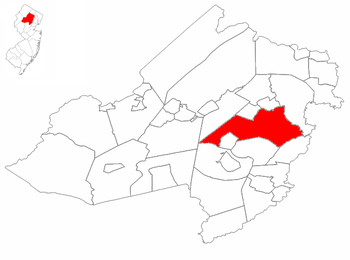 Parsippany-Troy Hills Township highlighted in ...