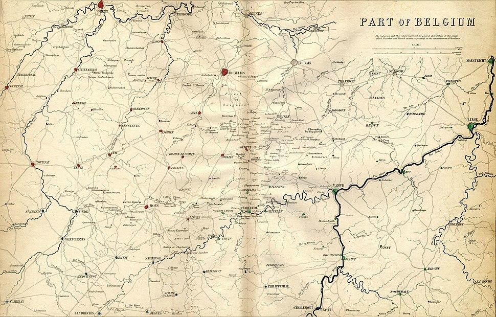 Part of Belgium engraved by J. Kirkwood