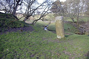 Stanegate - Roman milestone on the Stanegate near Vindolanda