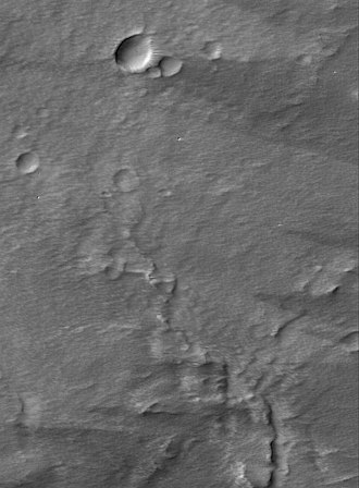 Pavonis Mons - Image: Pavonis Summit Dust PIA07421