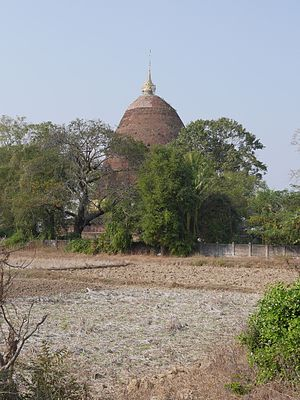 Sri Ksetra Kingdom - Sri Ksetra, Bago, Myanmar. Payama stūpa from the south.