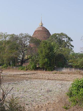 Sri Ksetra Kingdom - Sri Ksetra, Bago, Myanmar. Payama stūpa from the south.
