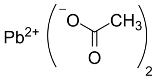 Lead(II) acetate chemical compound