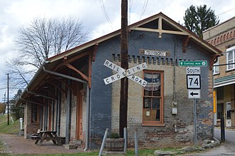 National Register of Historic Places listings in Ritchie County, West Virginia - Image: Pennsboro B&O Depot
