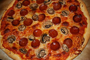 English: basic pizza dough recipe from The Bre...