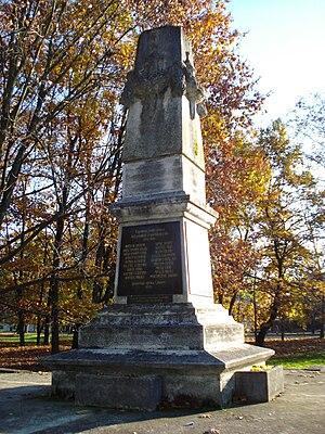 Perivoj Zrinskih, Čakovec - Obelisk poginulima u I. svjetskom ratu