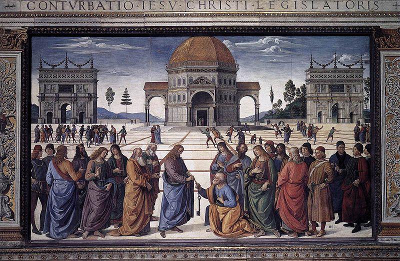 Archivo: Perugino, consegna delle Chiavi 01.jpg